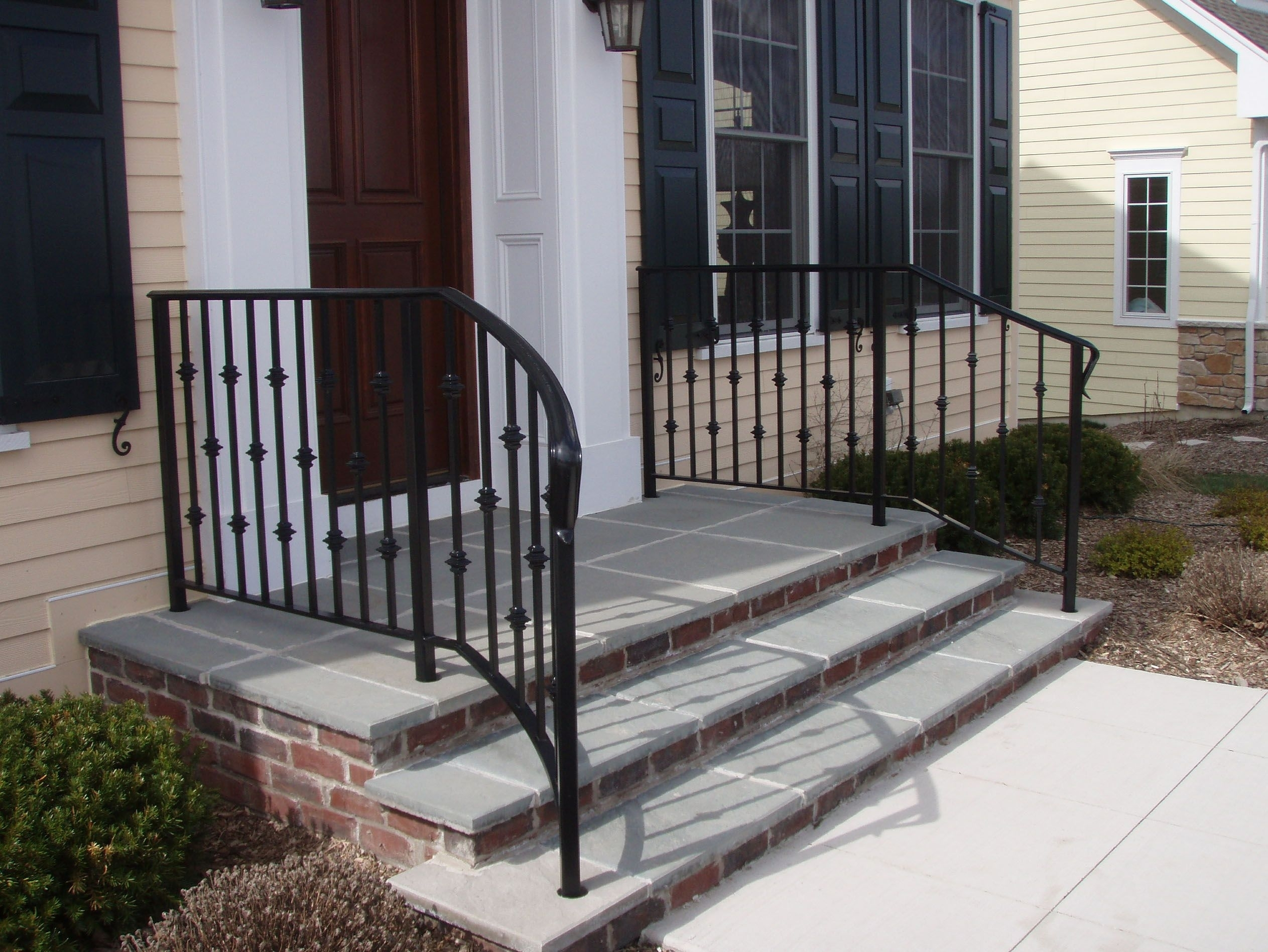Wrought Iron Handrails For Porch Steps — Randolph Indoor And | Handrails For Outdoor Steps | Plastic | Galvanized Steel | Solid Wood | Rail | Simple