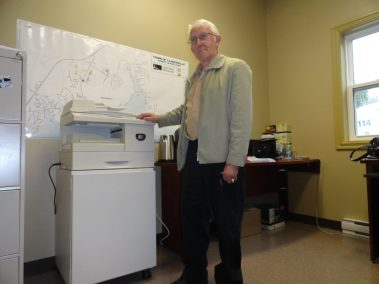 Bill King Donating Photocopier