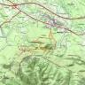 parcours effectué : croix, castrum, jas Roquefeuil