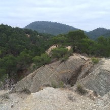 ravins de roches détritiques