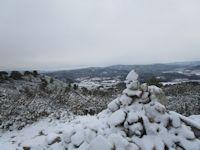 Rognes, le sentier des vignerons sous la neige