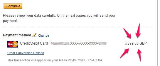 Käufe über PayPal in Fremdwährung bezahlen