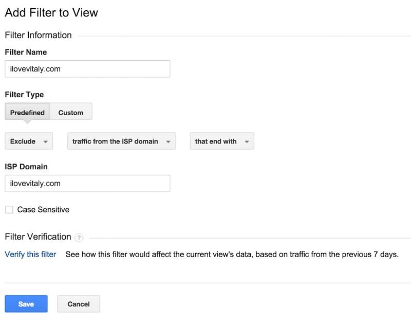 Google Analytics ermöglicht das Erstellen unterschiedlicher Filter (Bild: Screenshot).