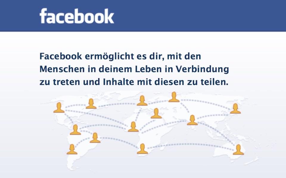 Facebook Login (Bild: Screenshot).
