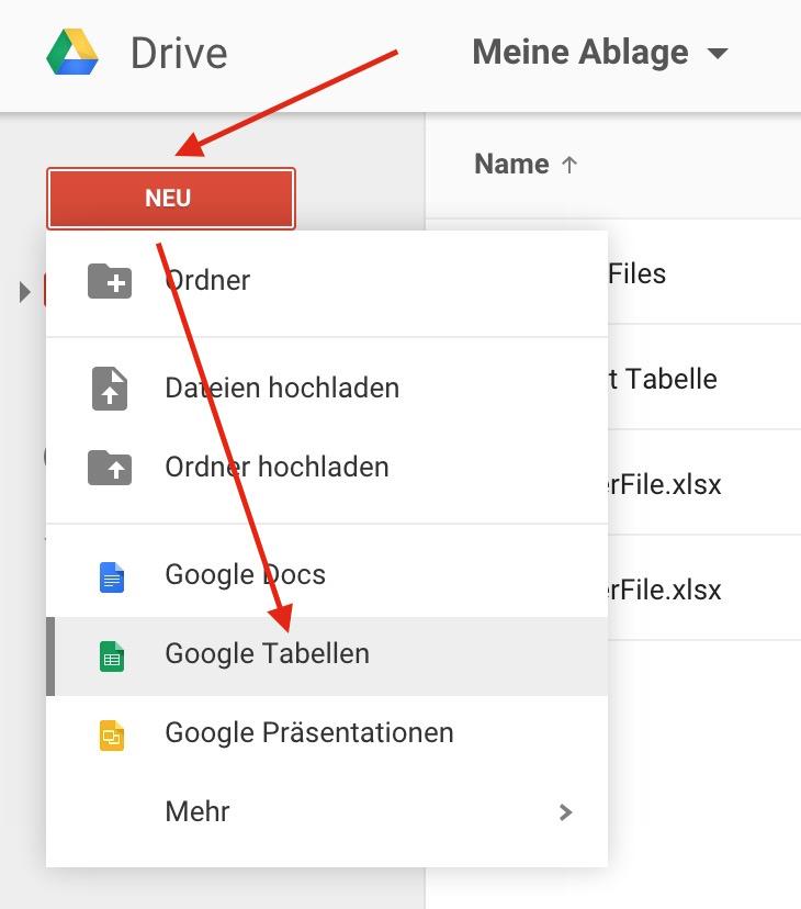 In wenigen Schritten lässt sich Google Tabelle mit Google Analytics verbinden (Bild: Screenshot Google Drive).