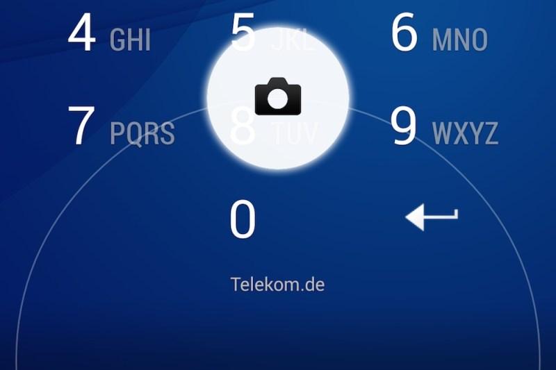 Der Foto-Schnellzugriff funktioniert nur mit der Sony-App (Bild: Screenshot Android).