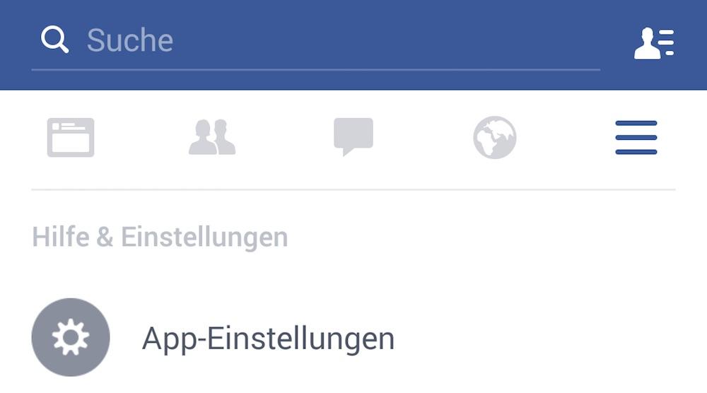 Facebook App Einstellungen