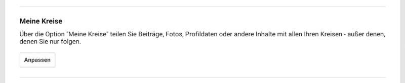 Meine Kreise in Google+ (Bild: Screenshot Google+).