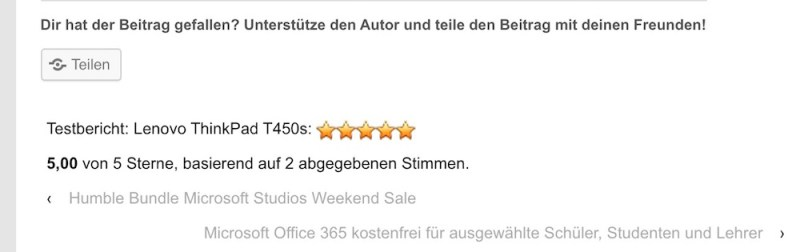 Bewertungen auf diesem Blog (Bild: Screenshot RandomBrick.de).