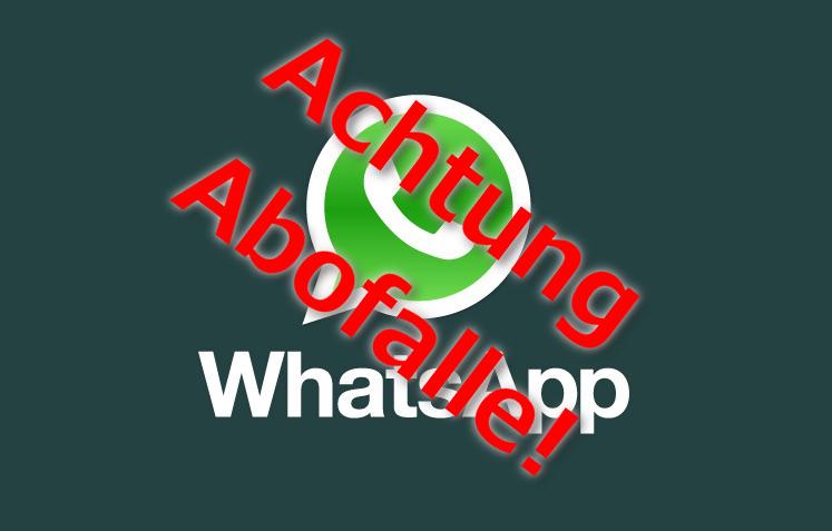 Abofallen werben mit WhatsApp Funktionen (Bild: WhatsApp Logo).