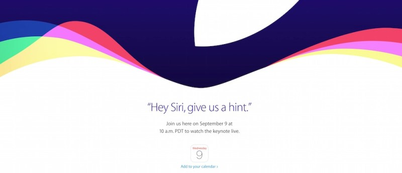 Das Logo zum Apple Event im September 2015 (Bild: Screenshot Apple.com).
