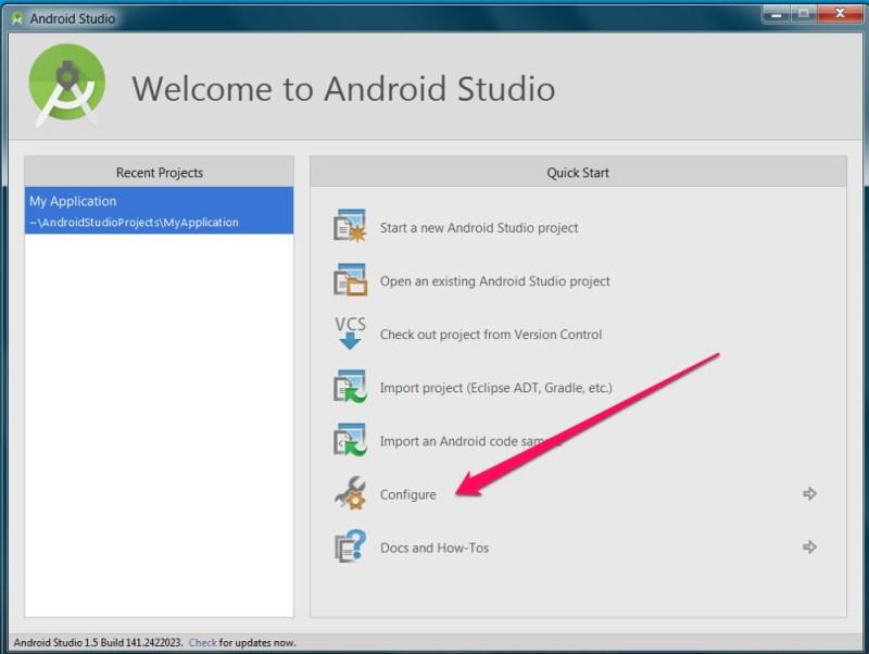 Die Einstellungen zu Android Studio (Bild: Screenshot Android Studio).