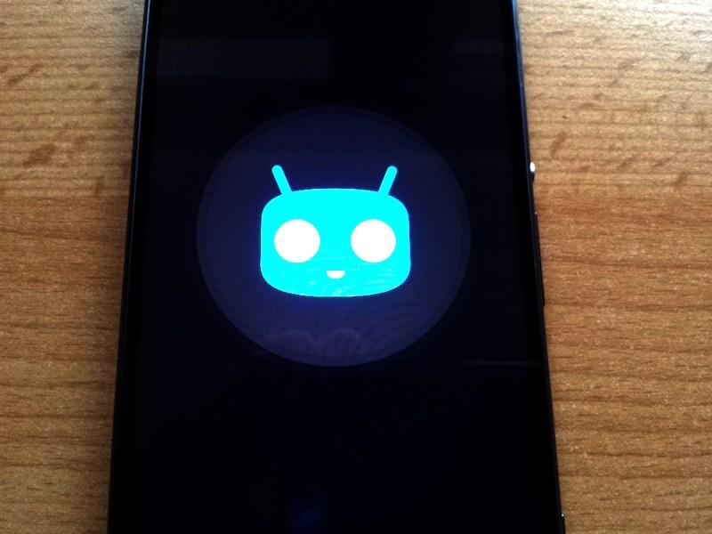 Start von CyanogenMod auf dem Sony Xperia Z3 (Bild: Benjamin Blessing).