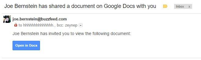 Google Docs Phishing