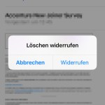 Gelöschte E-Mail am iPhone wiederherstellen