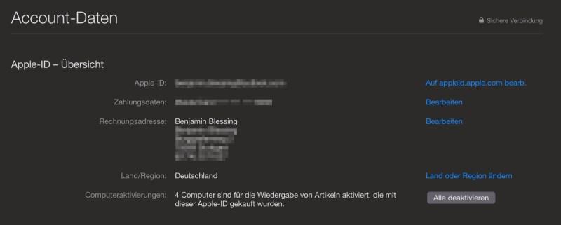 iTunes ohne Computer deaktivieren