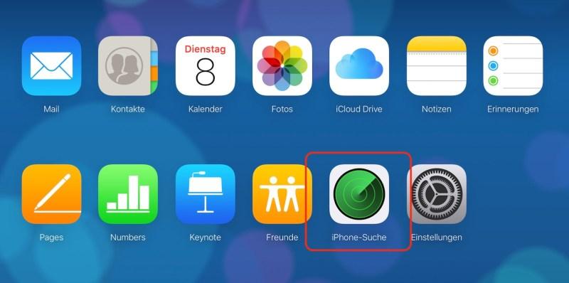 Die iCloud Oberfläche