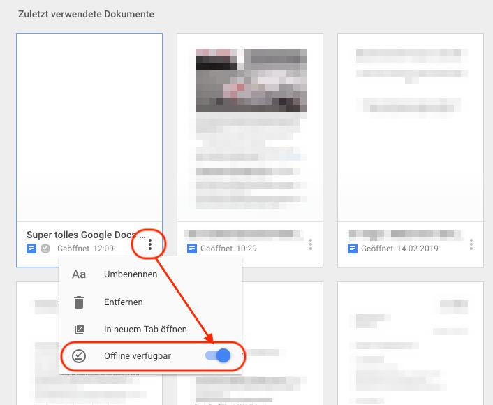 Google Docs offline nutzen