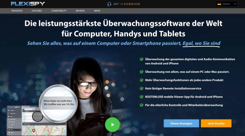 FlexiSPY Webseite