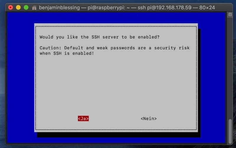 SSH auf dem Raspberry Pi aktivieren via Terminal