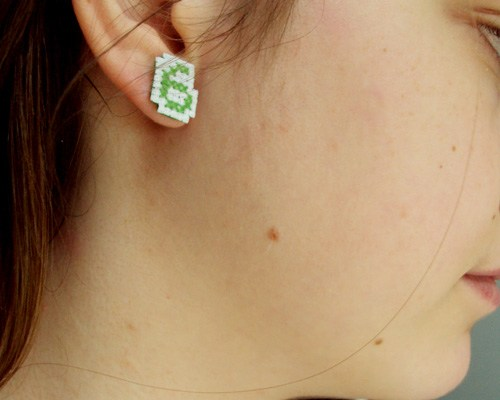 Cross Stitch Earrings