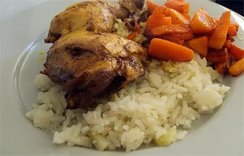 Comer Barato: Caril de frango