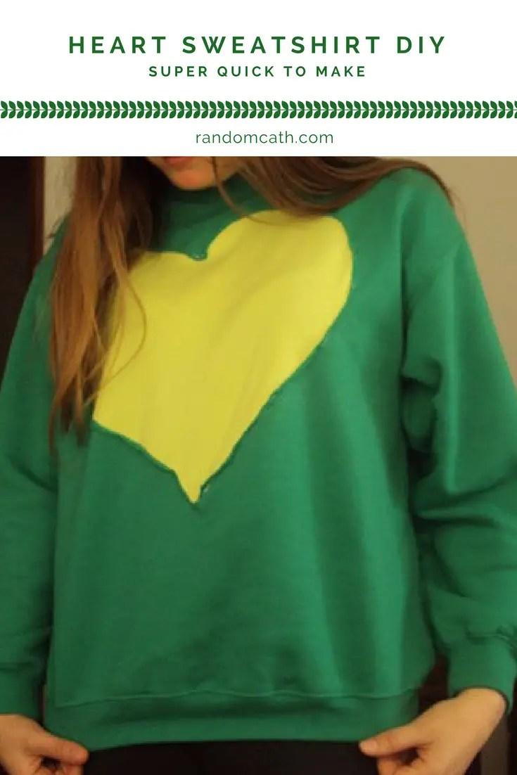 Heart Sweatshirt DIY