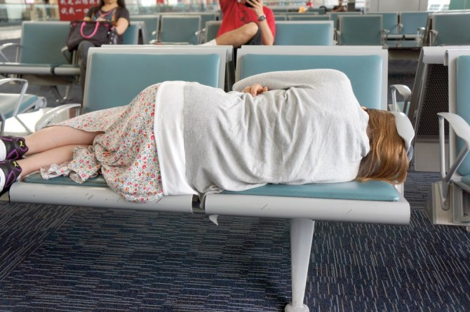 Me trying to sleep in airport