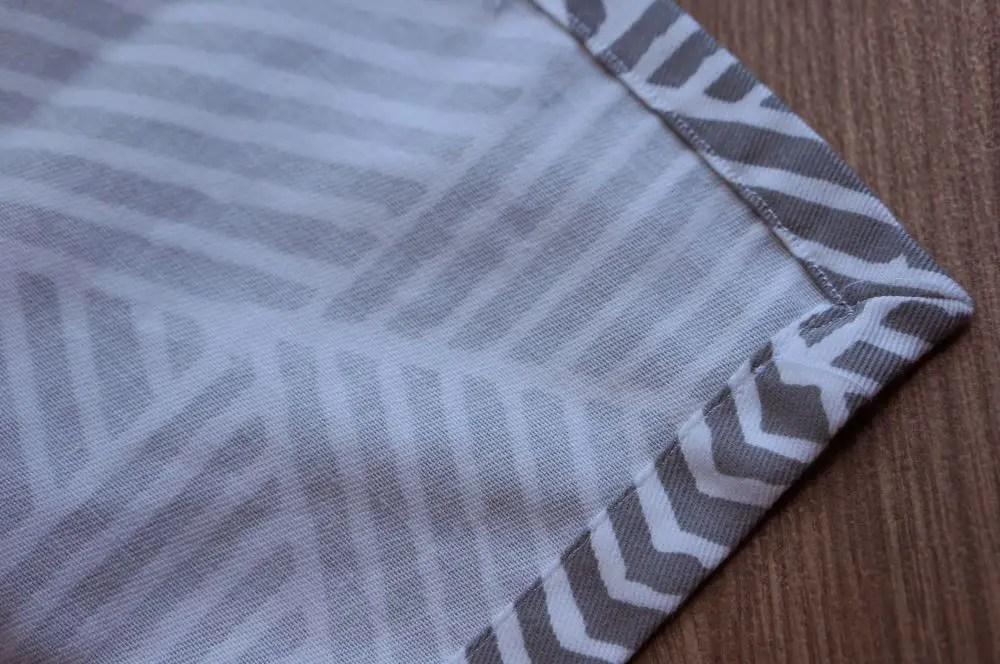 Cloth napkin corner close up