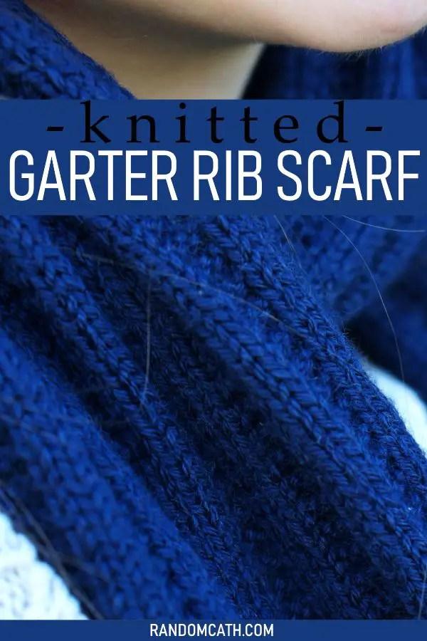 Knitted Garter Rib Scarf