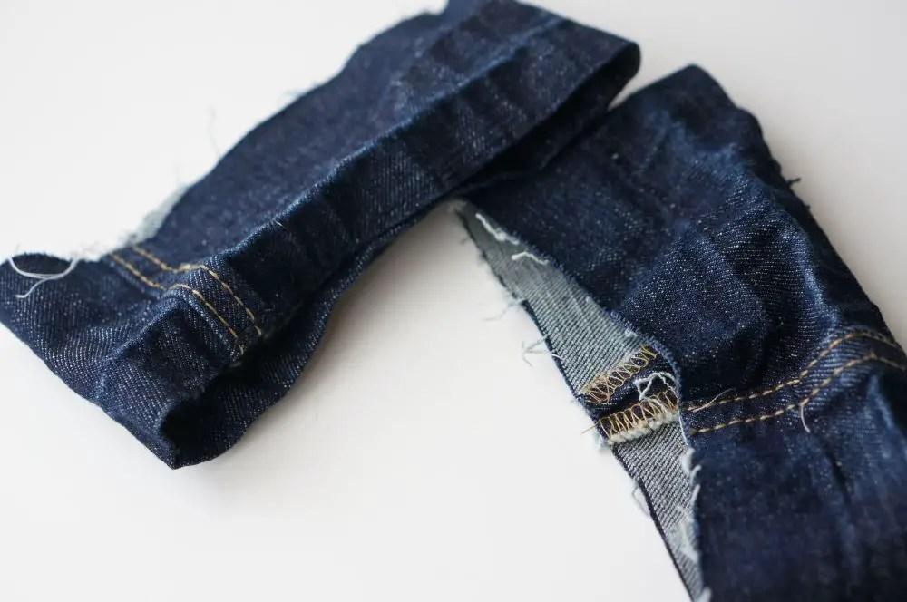 hem leftover jeans