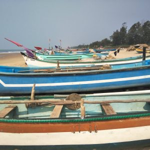 Boats at Gokarna Beach