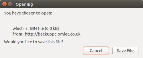 backuppc – gui downloading bin file – Ubuntu 14.04 – Random Hacks / σX