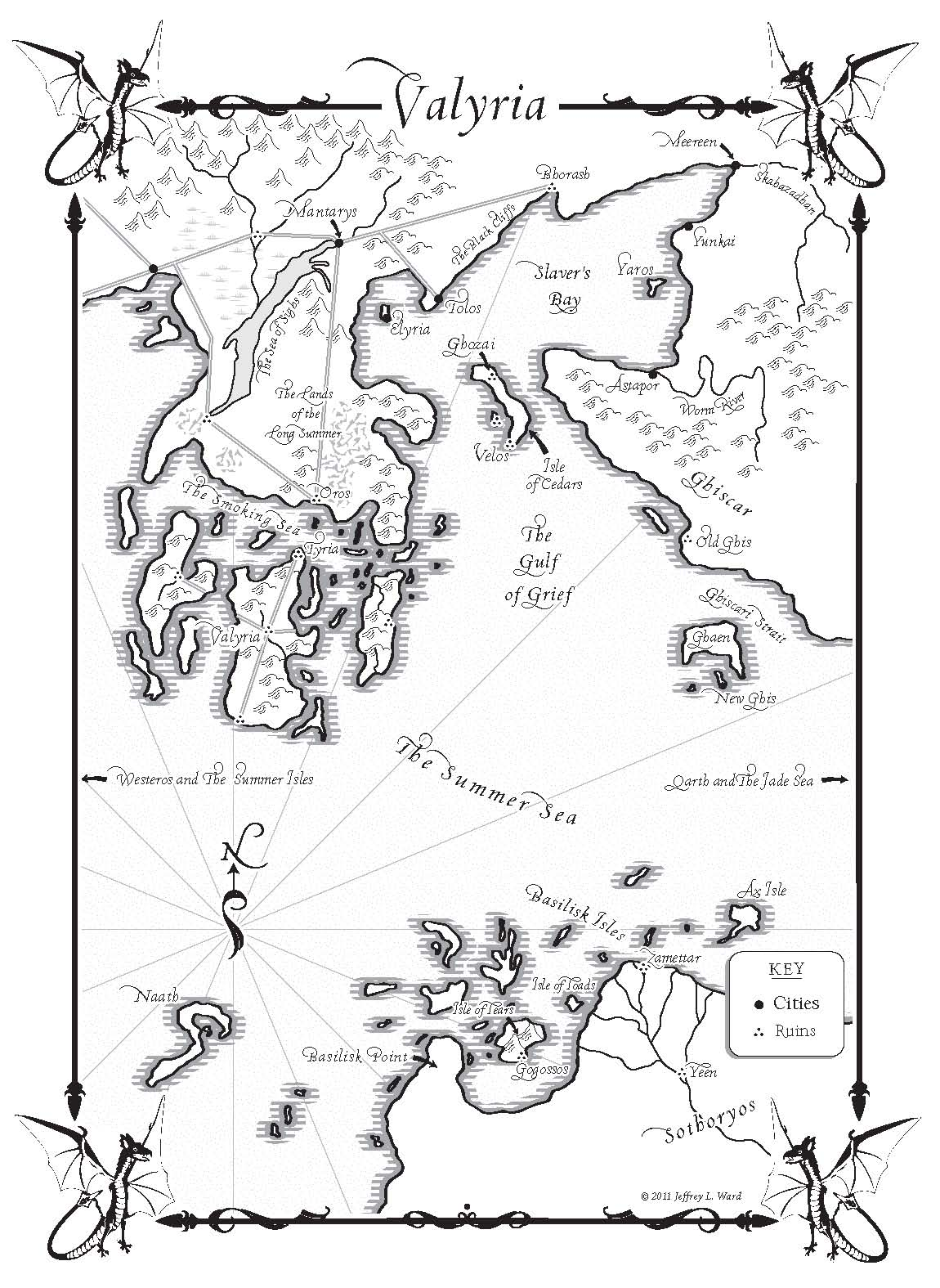 A Dance With Dragons Maps