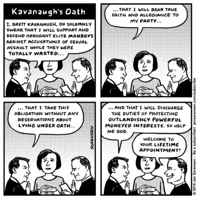 Kavanaugh's Oath. Kavanaugh's Party Times Comes To Roost