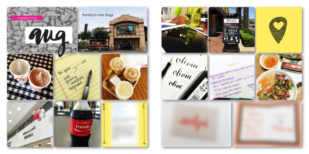 Digital Project Life Layouts: August 2014