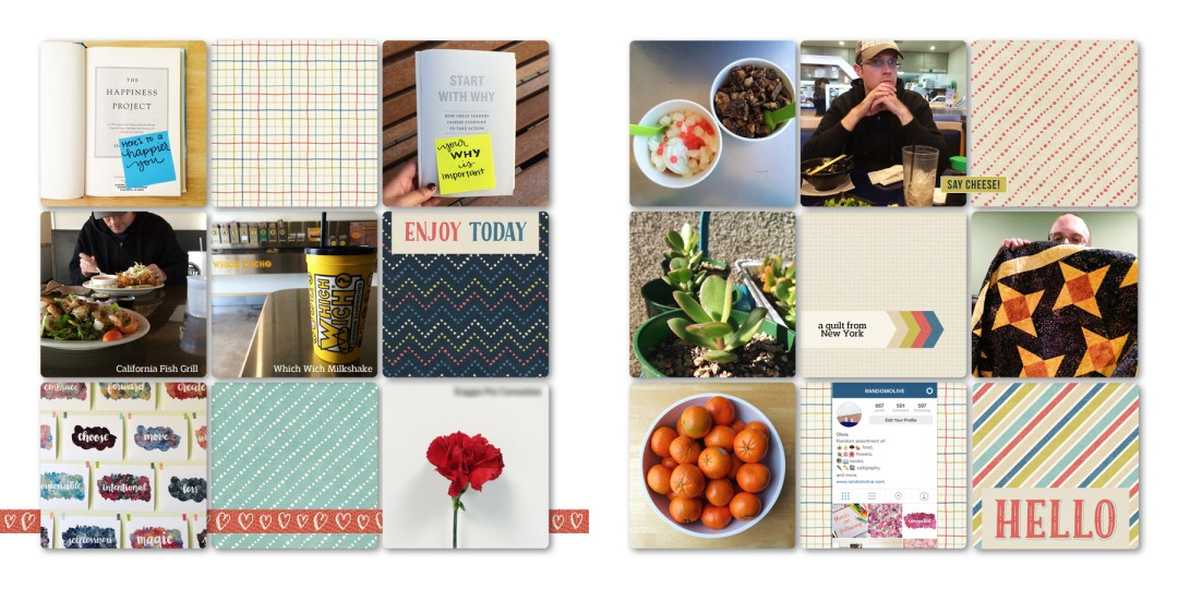 Digital Project Life Layouts and Tips - www.randomolive.com