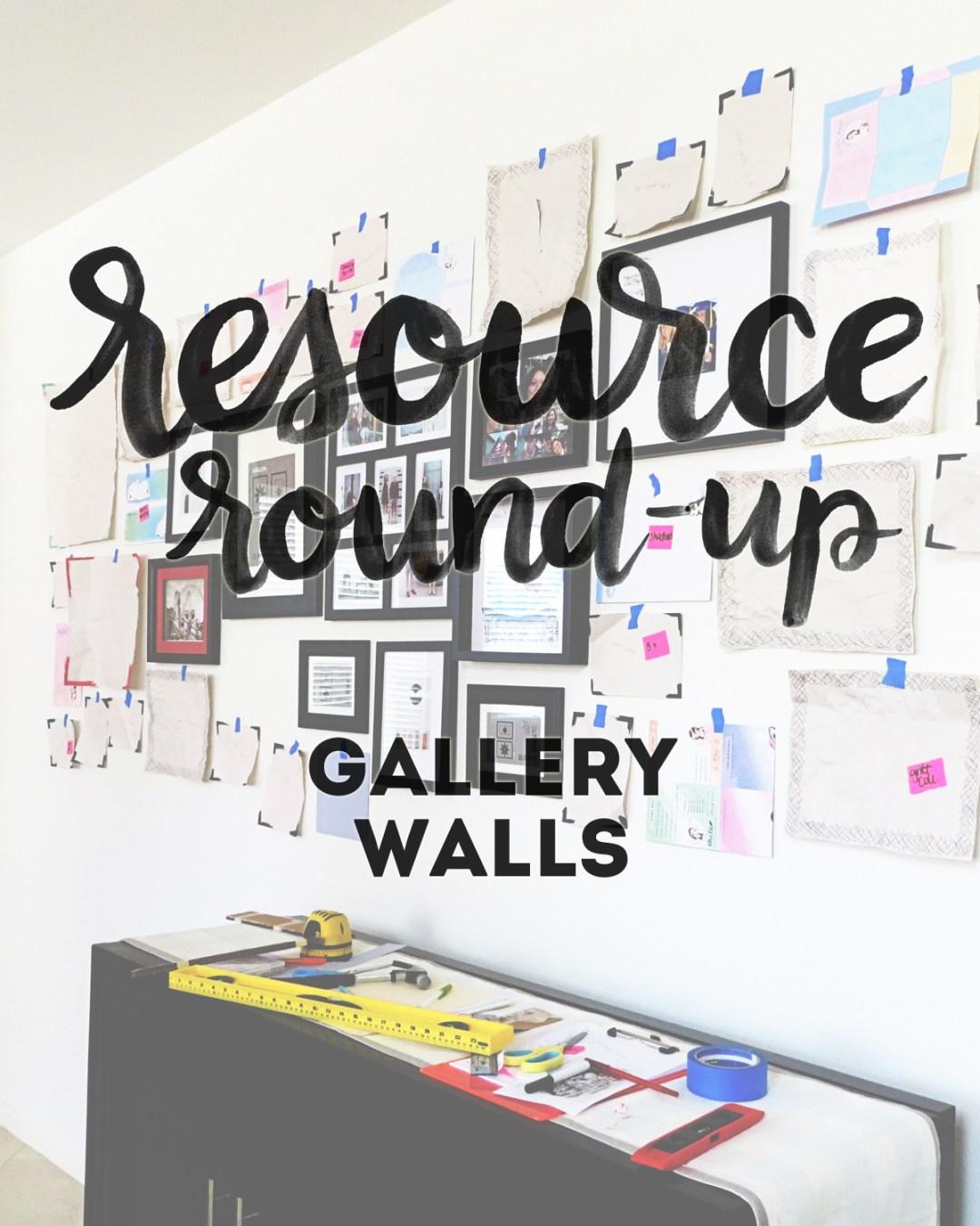 Resource Round-Up: Gallery Walls - www.randomolive.com