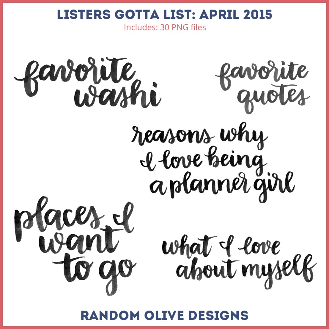 Listers Gotta List - Stamps for April 2015