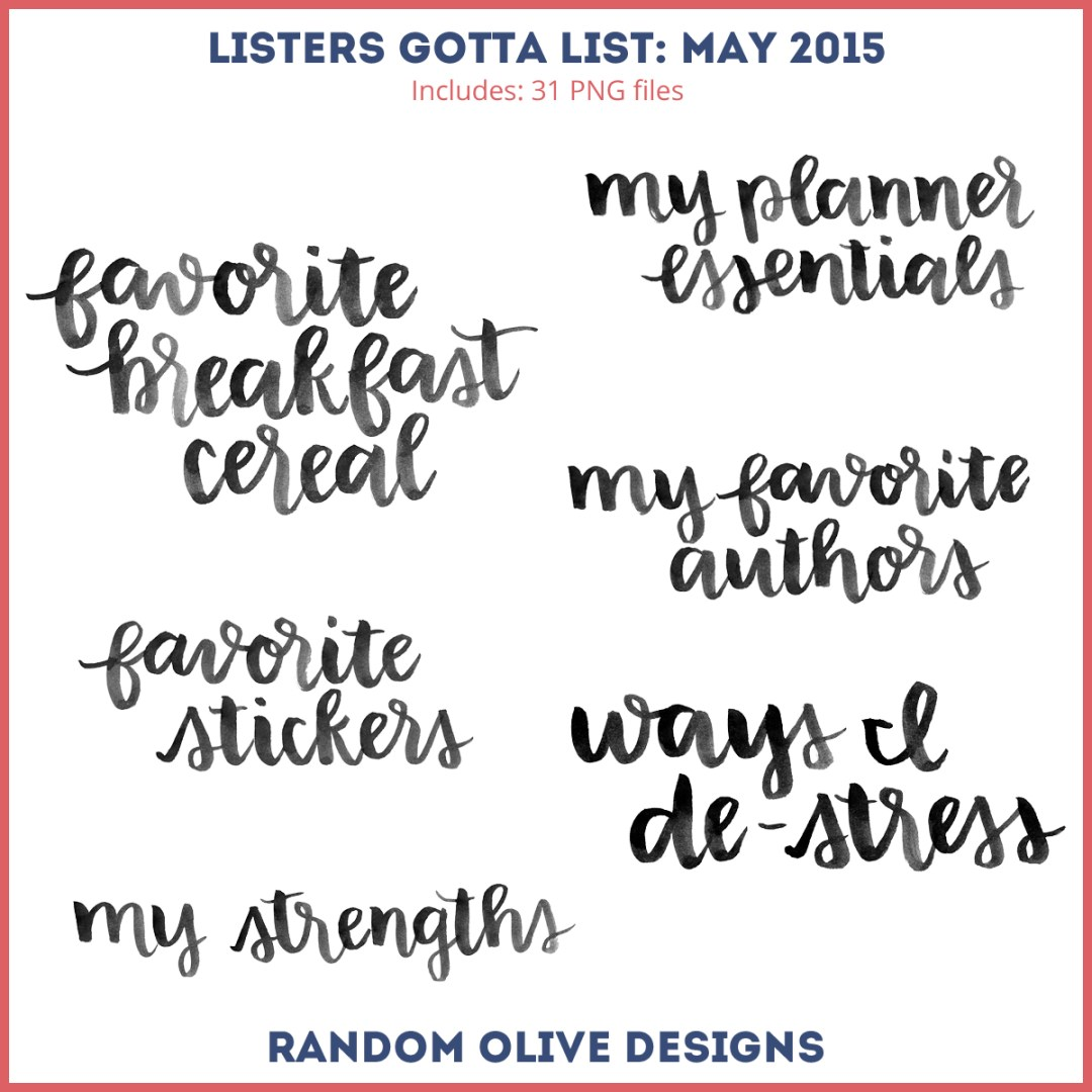Listers Gotta List - Stamps for May 2015