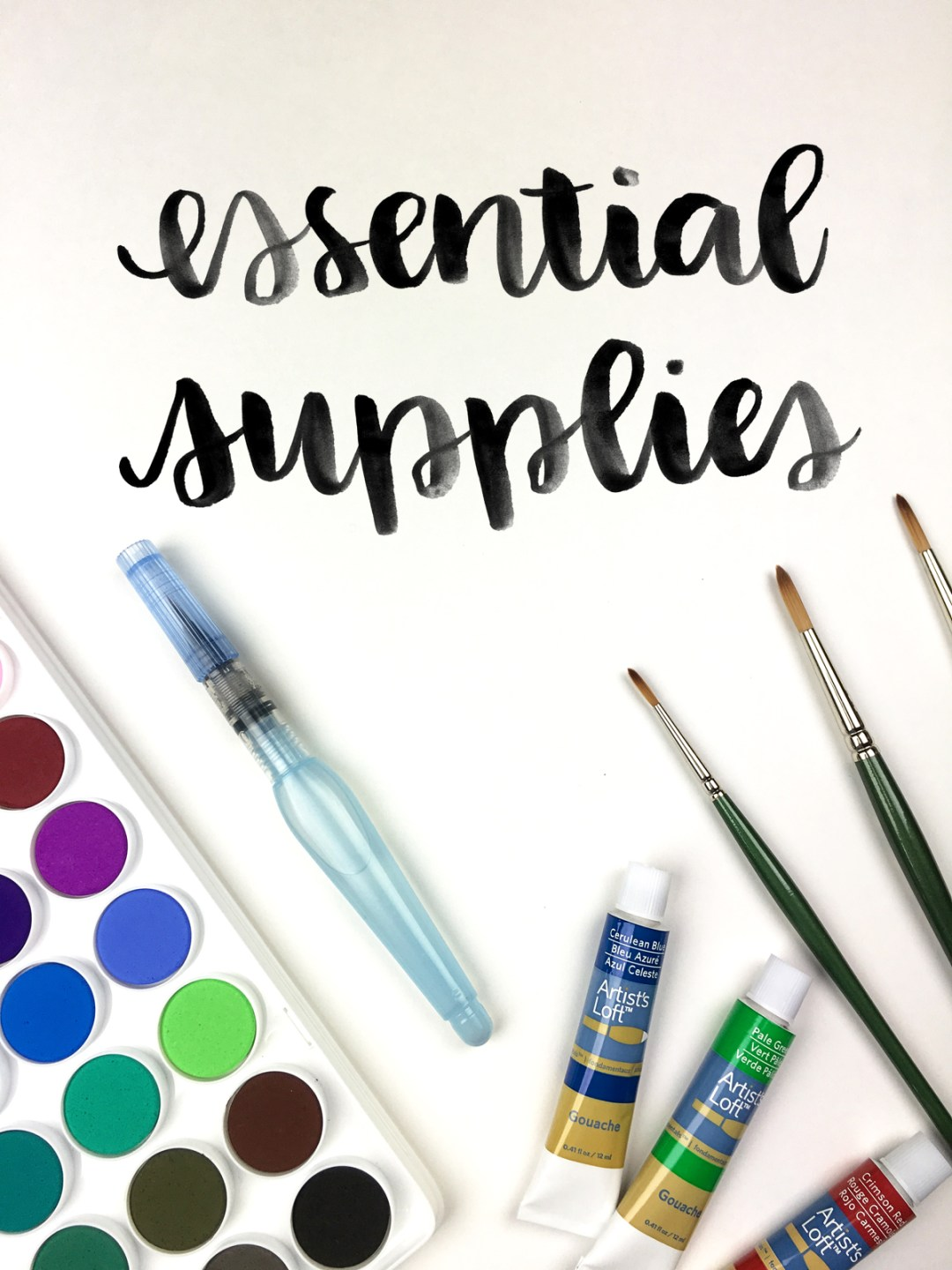 The most essential supplies to get started with brush lettering - www.randomolive.com