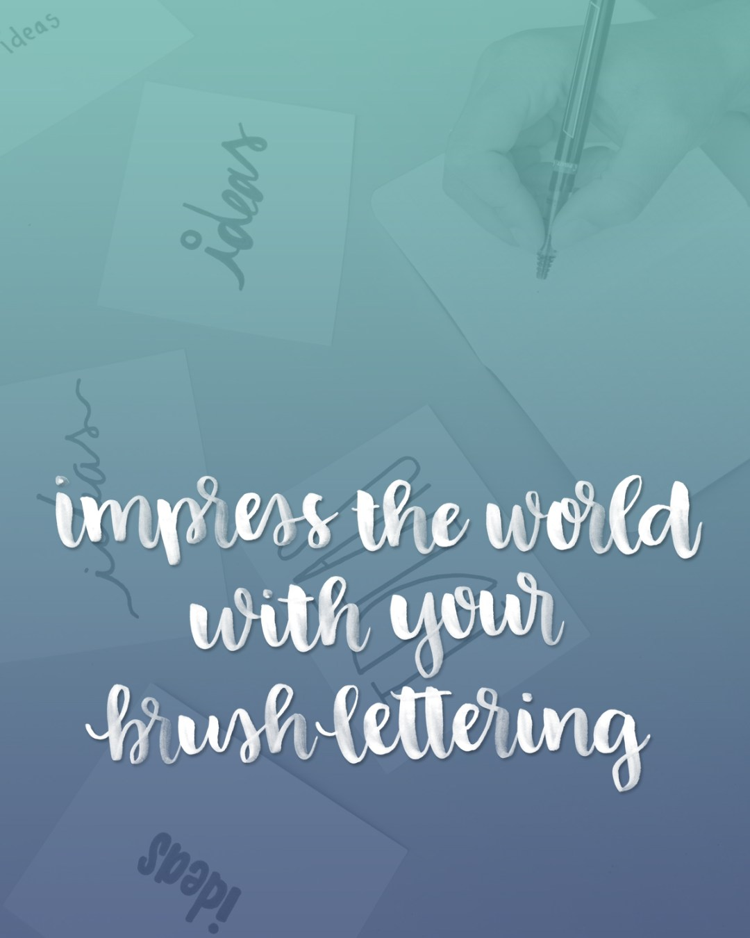 Over 60 Ways to Impress Your Friends with Brush Lettering - www.randomolive.com