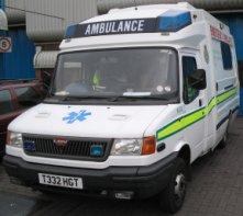 An old style ambulance
