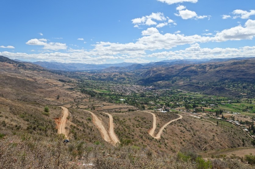 The view back towards Cajamarca