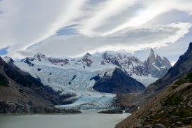 The snaking Glaciar Torre