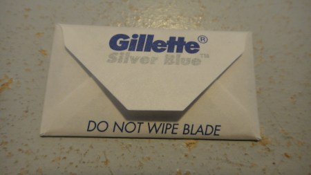 Gillette Silver Blue wrapper back