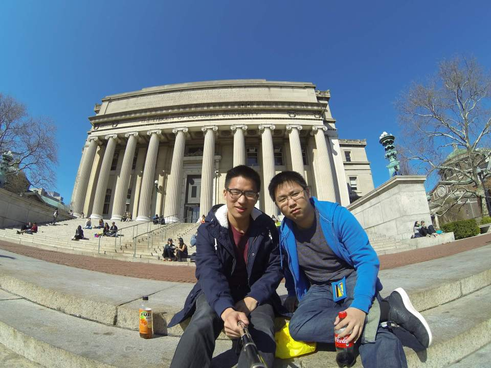 Hanging out with my bro at Columbia