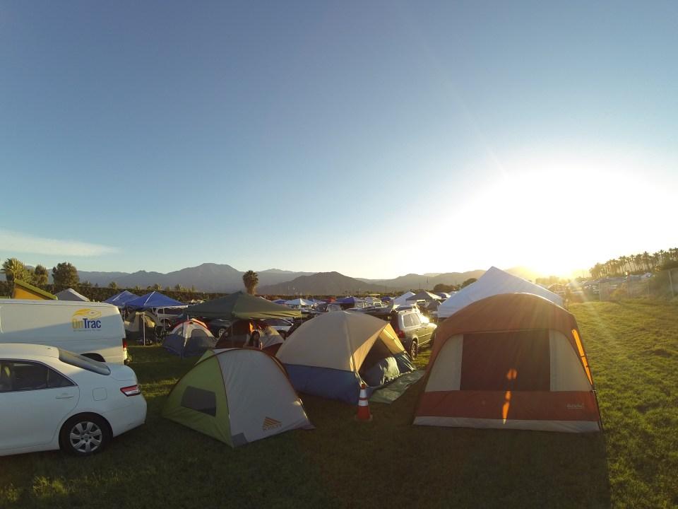 Car camping at Coachella 2014