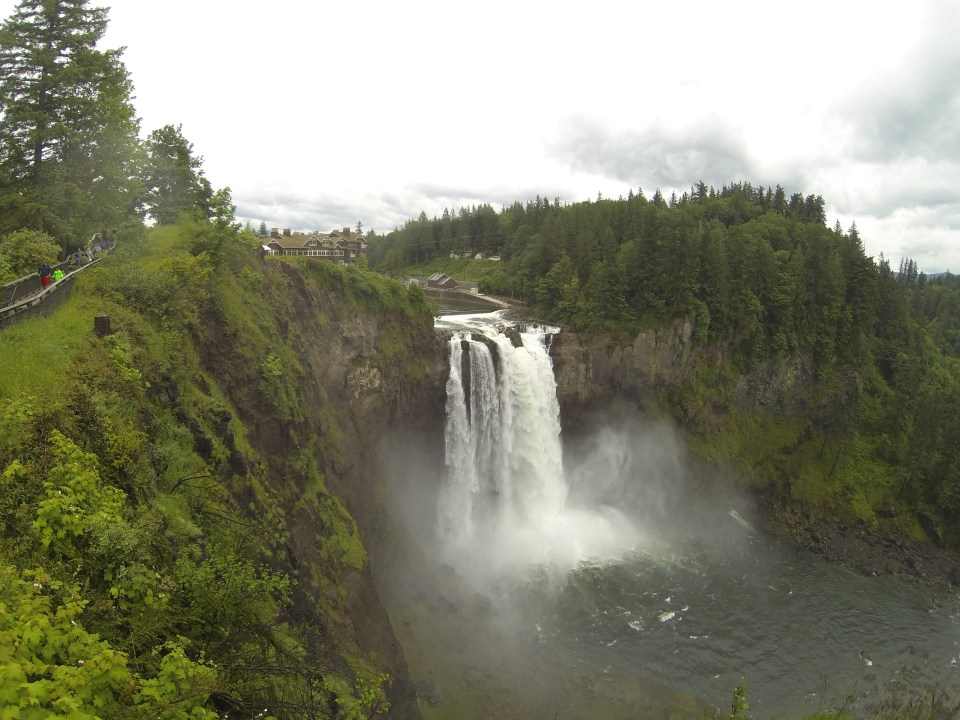 Breathtaking view of Snoqualmie Falls