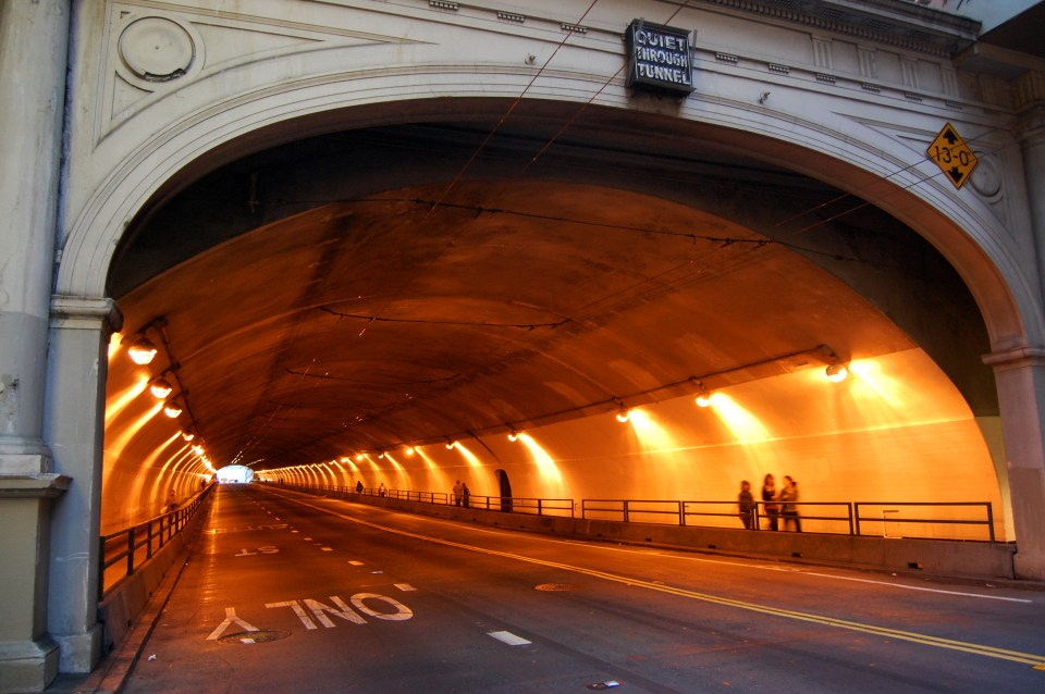 Stockton Tunnel in San Francisco